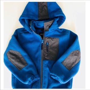 Nautica Fleece Jacket Hooded Heavy Duty Blue